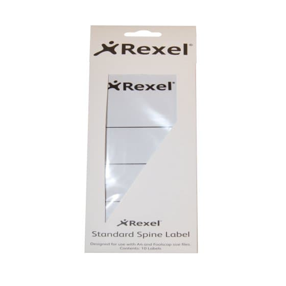 White Rexel 2115550Printable Spine Labels Plastic Lever Arch Files