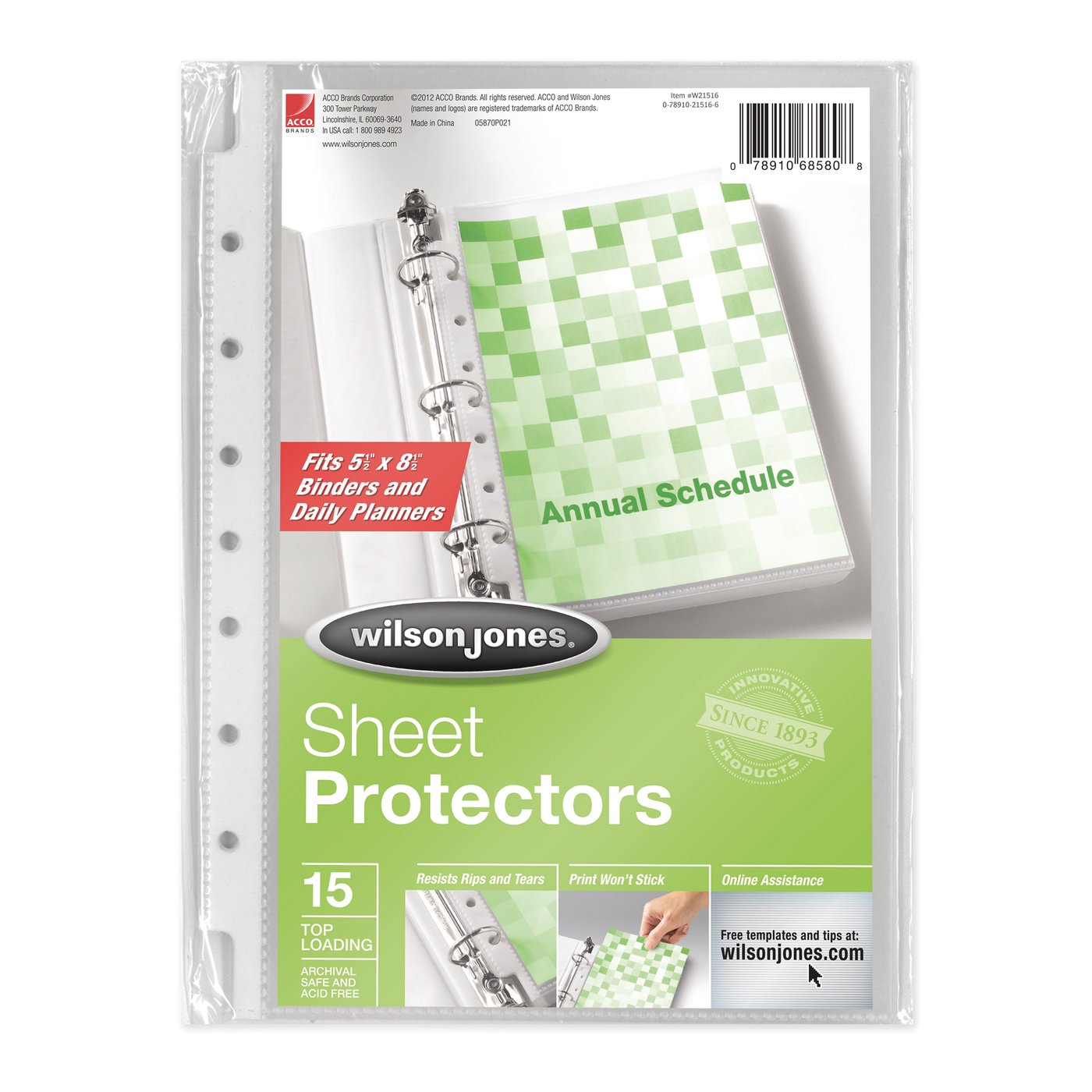 Wilson Jones - Binder Accessories - Sheet Protectors - Wilson Jones ...