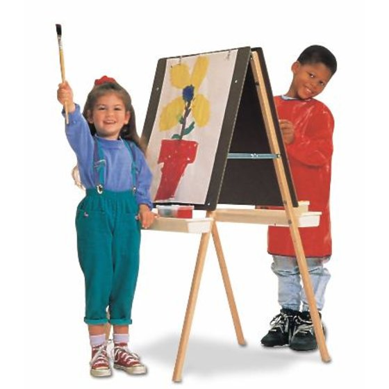 Quartet® Double Adjustable Easel, Two Masonite Panels, Rounded Edges