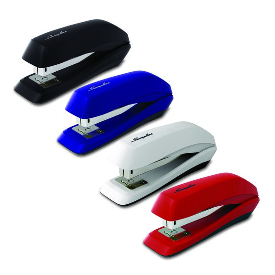 Swingline® 545 Compact Stapler, 15 Sheets, Tacking Ability, Assorted Colors