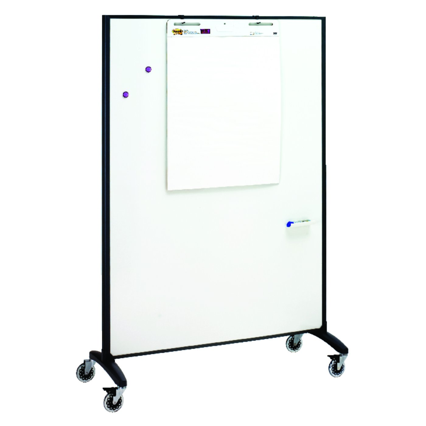 quartet easels whiteboard easels quartet motion room divider 4 39 x 6 39 duramax porcelain. Black Bedroom Furniture Sets. Home Design Ideas