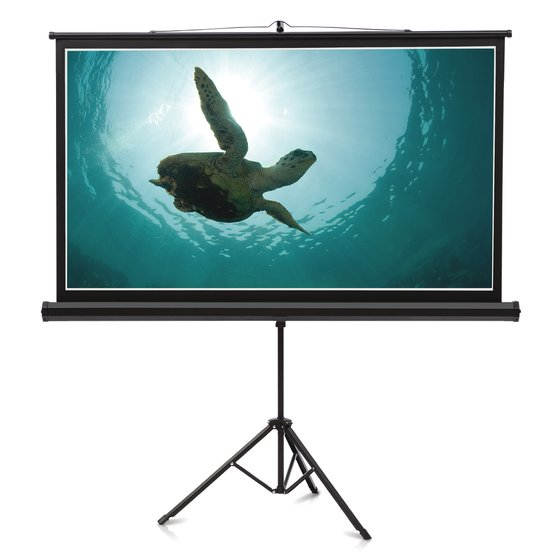 Quartet® Wide Format Projection Screens, Tripod Base