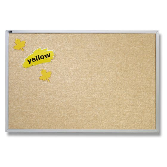 Quartet® Vinyl Tack Bulletin Boards, Antique White with Aluminum Frame
