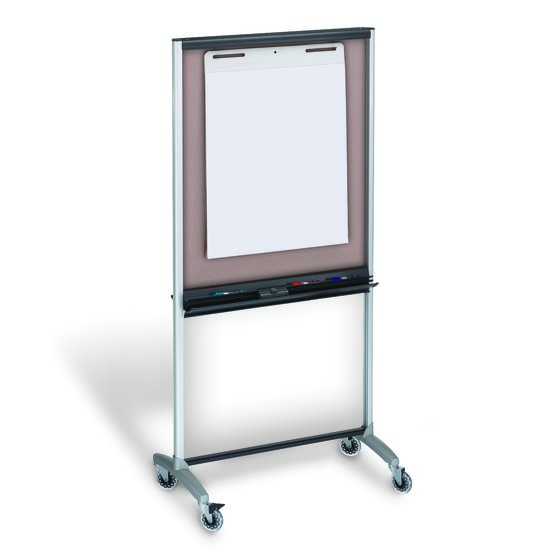 "Quartet® 3-In-1 Total Erase® Easel, Whiteboard, Display, Room Divider, 33"" x 39"""