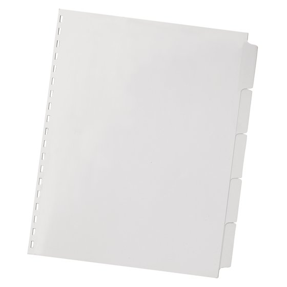 Swingline™ GBC® ZipBind®  Pre-Punched Tabs, 5 Tab Set, White