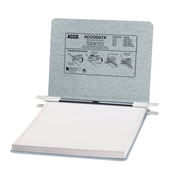 "ACCO® PRESSTEX® Covers with Storage Hooks, For Unburst Sheets, 9 1/2"" x 11"" Sheet Size"
