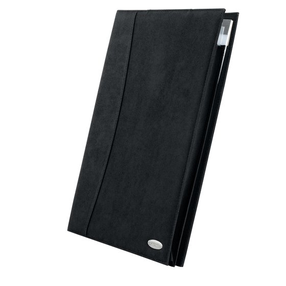 Soft Touch Folio Suede Effect Black