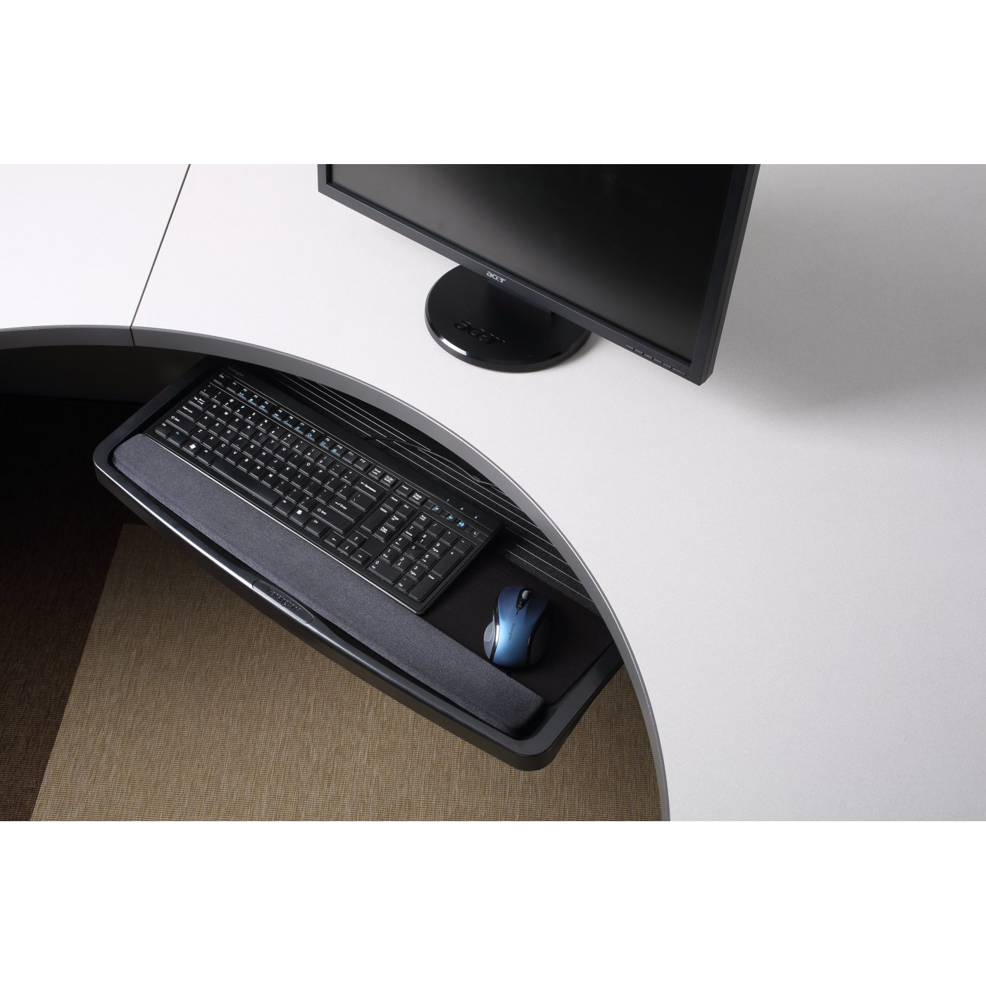 drawer ergonomics over drawers under with products keyboard kensington overunderdesk system desk smartfit us