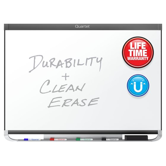 Quartet® Prestige® 2 DuraMax® Porcelain Magnetic Whiteboards, Graphite Finish Frame