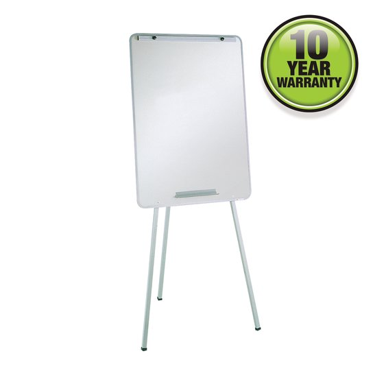 "Quartet® Oval Office™ Whiteboard Easel, 29"" x 40"", Holds Flipcharts, Gray Frame"
