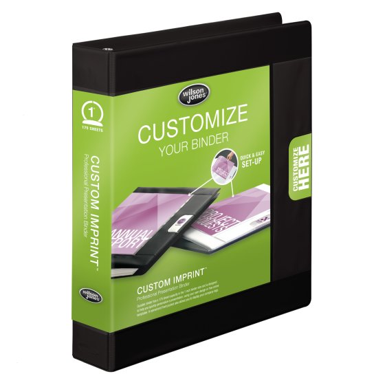 Wilson Jones® Custom Imprint Presentation Binders, Round Rings