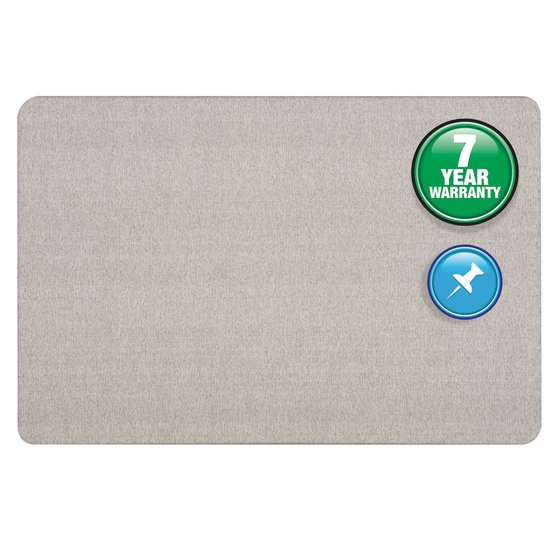 Quartet® Oval Office™ Fabric Bulletin Boards, Gray Fabric