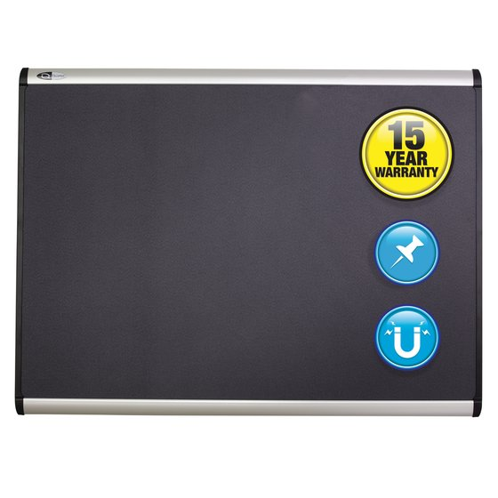 Quartet® Prestige Plus® Magnetic Fabric Bulletin Boards, Aluminum Frame