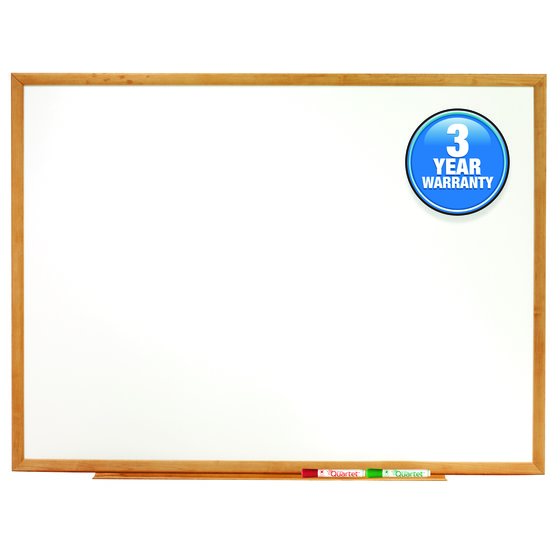 Quartet® Classic Whiteboards, Oak Finish Frame