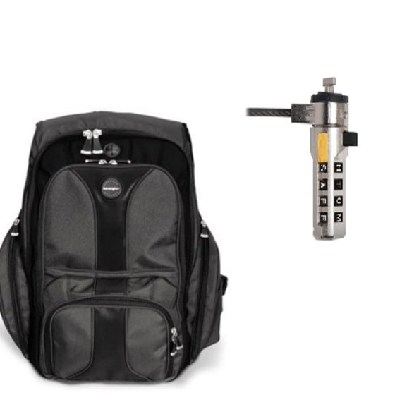 Contour™ Laptop Backpack & WordLock® Portable Combination Laptop Lock Bundle