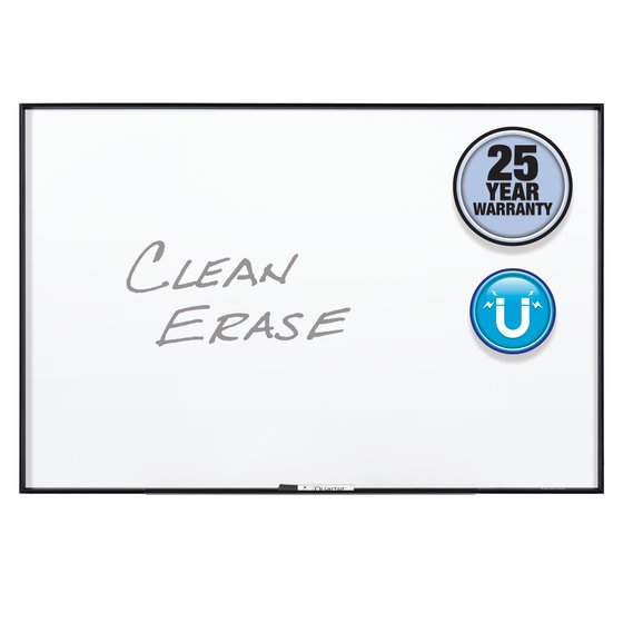 Quartet® Fusion Nano-Clean™ Magnetic Whiteboards, Black Aluminum Frame