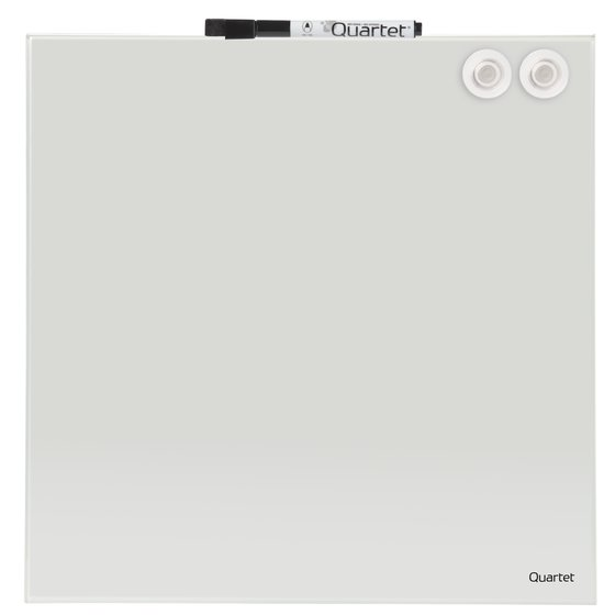 Quartet® Magnetic Glass Dry-Erase Board, White Surface