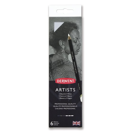 Derwent Artists Black & White 6 tin