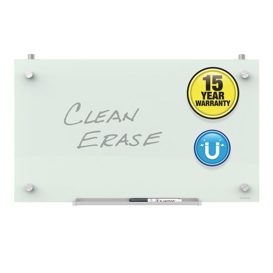 Quartet Infinity™ Magnetic Glass Dry-Erase Cubicle Boards, White Surface, Frameless