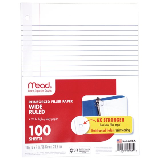 Mead ® Reinforced Filler Paper