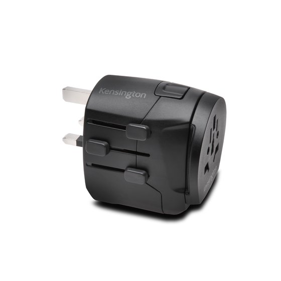 International Travel Adapter – Grounded (3-Prong) with Dual USB Ports