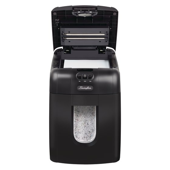 Swingline® Stack-and-Shred™ 130M Auto Feed Shredder, Micro-Cut, 130 Sheets, 1-2 Users