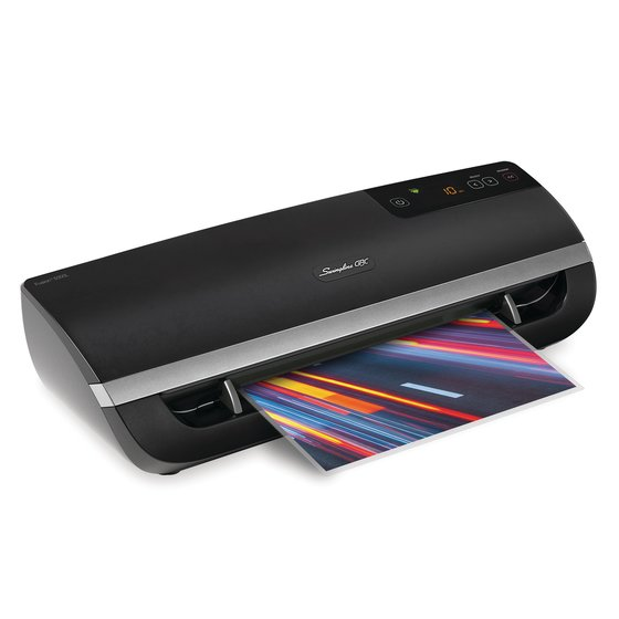 "Swingline® GBC® Fusion™ 5000L 12"" Laminator, 1 Minute Warm-up, 3-10 Mil, Includes 50 EZUse™ Laminating Pouches"