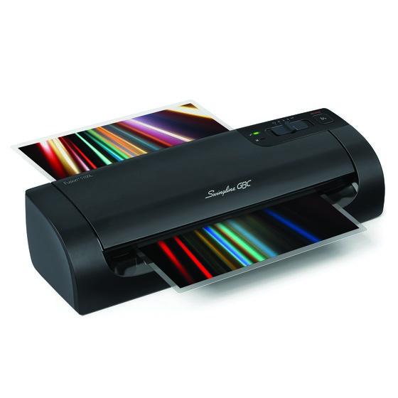 "Swingline® GBC® Fusion™ 1100L 9"" Laminator, 4 Minute Warm-up, 3 or 5 Mil, Includes 10 EZUse™ Laminating Pouches"