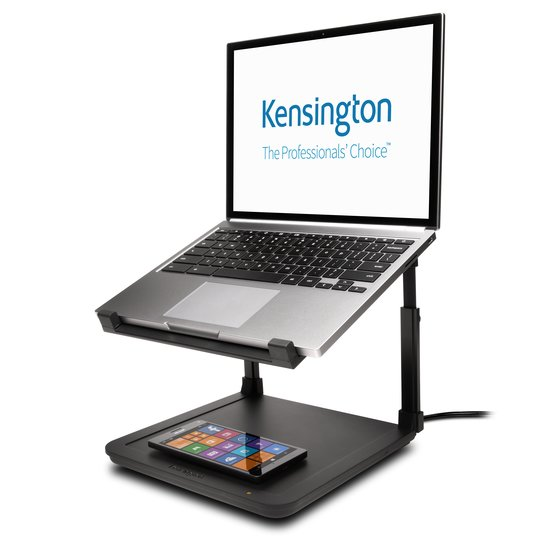 Base per laptop regolabile SmartFit® con piano di ricarica wireless per smartphone
