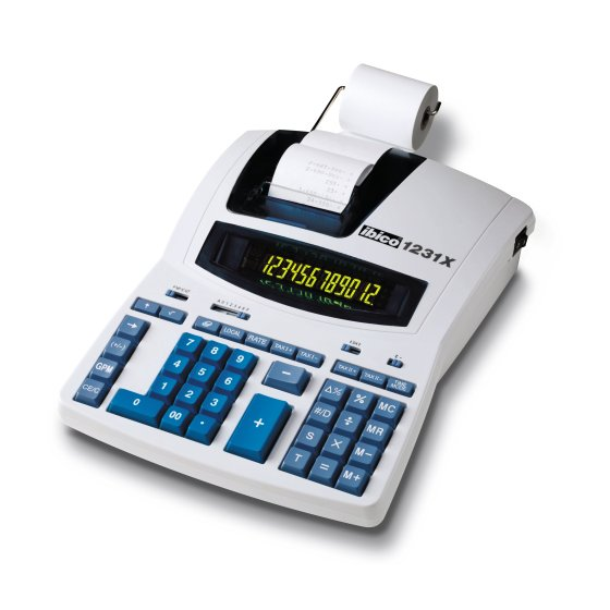 Ibico 1231X Professional Print Calculator White/Blue