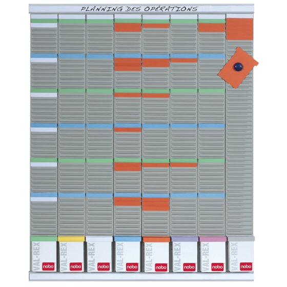 T-Card Weekly Planning Kit 8 Panels 54 Slots
