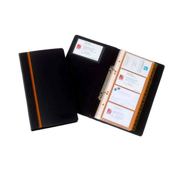 Optima Business Card Book Black
