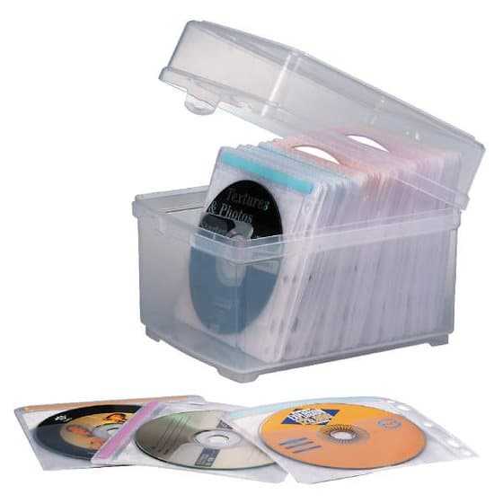 CD/DVD Storage Box with Sleeves