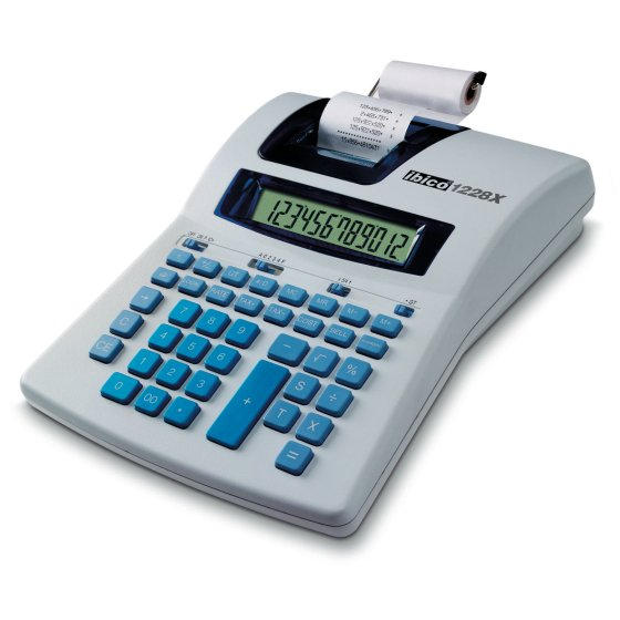 Ibico 1228X Semi-Professional Print Calculator White/Blue
