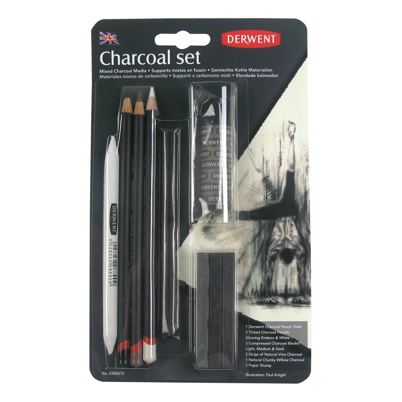Derwent charcoal collection pack 10 count