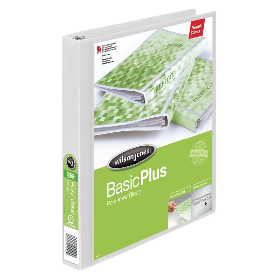 Wilson Jones® Flex Poly View Binders, 1""