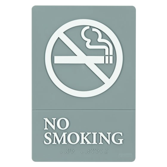 "Quartet® ADA Signs, No Smoking, 6"" x 9"", Grade 2 Braille"