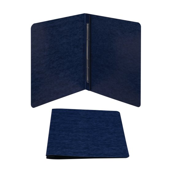 "ACCO® Recycled ScoRed Hinge Report Covers, Side Binding For Letter Size Sheets, 3"" Capacity, Dark Blue"